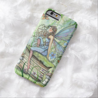 busy Garden Fairy Butterfly Flowers Fantasy Art Barely There iPhone 6 Case
