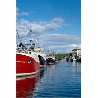 Busy harbor, Eyemoutn, Berwickshire, Scotland Standing Photo Sculpture