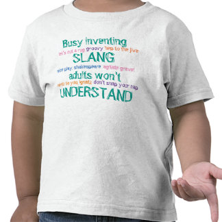 Busy Inventing Slang Toddler Tee