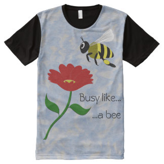 Busy Like a Bee All-Over Print T-Shirt