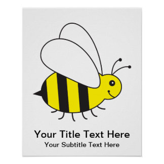 Busy Little Bumble Bee Poster