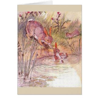 Busy Mother Bunny - Card