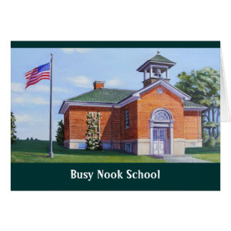 Busy Nook School Card