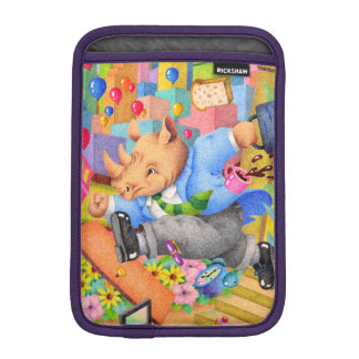 Busy rhinoceros iPad mini sleeve