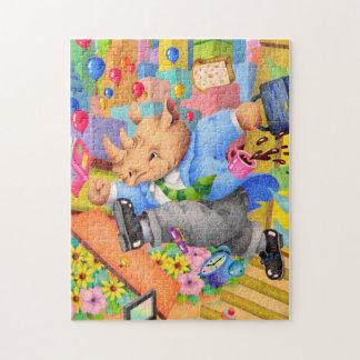 Busy rhinoceros jigsaw puzzle