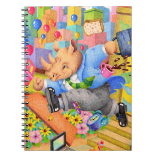 Busy rhinoceros notebook