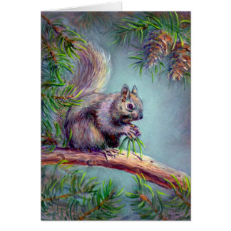 BUSY SQUIRREL by SHARON SHARPE Card