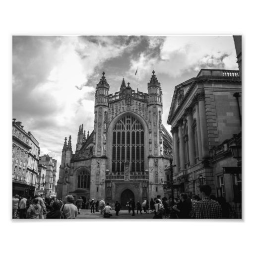Busy streets of Bath Photographic Print