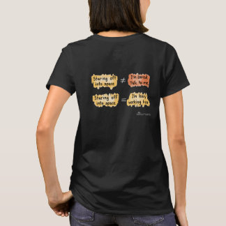 Busy Working Women's Blk T-Shirt (Design on Back)