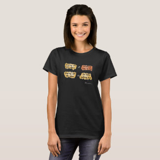 Busy Working Women's Blk T-Shirt (Design on Front)