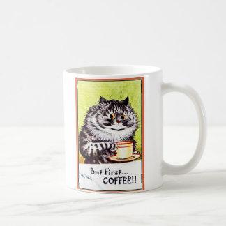 But Firs Coffee Cat Mug-Louis Wain Coffee Mug