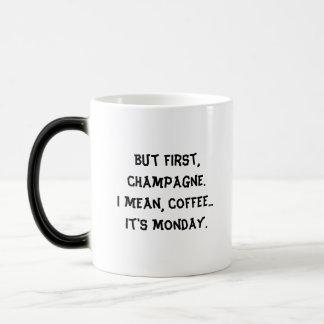 """But First..."" - Black/White Morphing Mug"