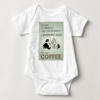 BUT FIRST COFFEE BABY BODYSUIT