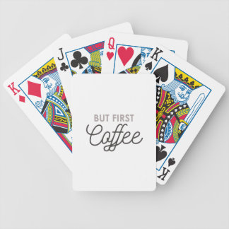 But First Coffee Bicycle Playing Cards