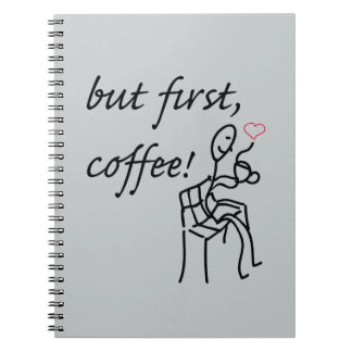 But First Coffee Photo Notebook (80 Pages B&W)
