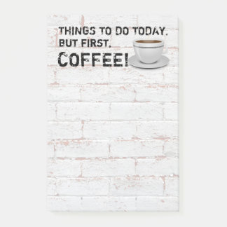 But First Coffee Post-it Notes