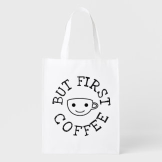 But First Coffee Reusable Grocery Bag