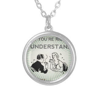 BUT FIRST COFFEE SILVER PLATED NECKLACE