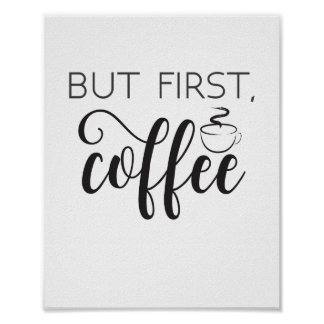 But First Coffee Wall Art, Kitchen Poster, Home Poster