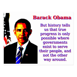 But History Tells Us That - Barack Obama Postcard