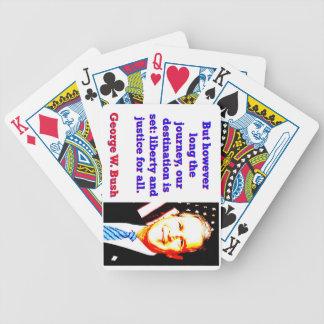 But However Long The Journey - G W Bush Poker Deck