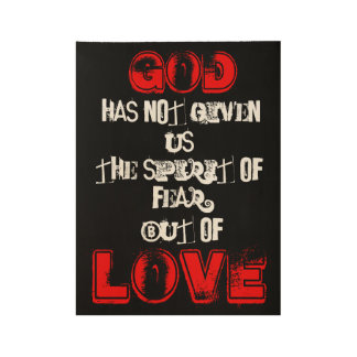 But Of Love Wood Poster