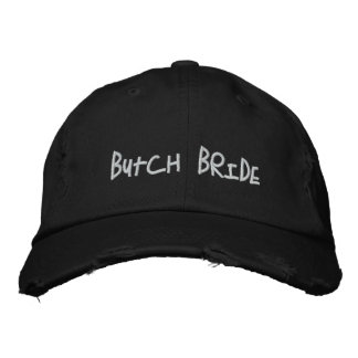 Butch Bride Embroidered Hat