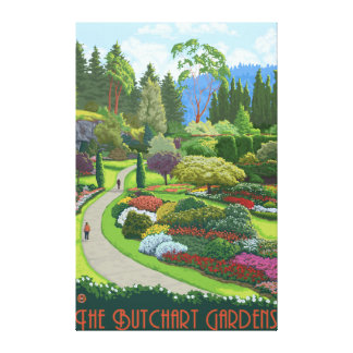 Butchart Gardens - Brentwood Bay Canvas Print