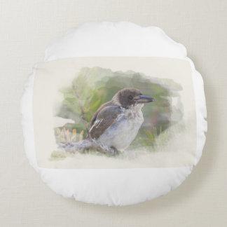 Butcher bird round cushion