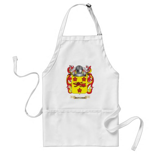 Butcher Coat of Arms (Family Crest) Aprons