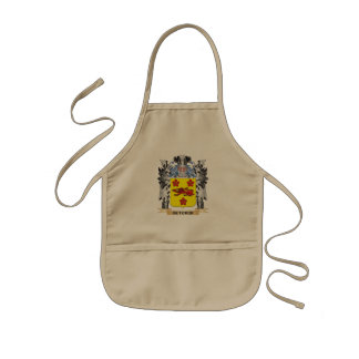 Butcher Coat of Arms - Family Crest Kids Apron