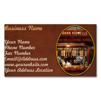Butcher - Meat priced right 1916 Magnetic Business Card