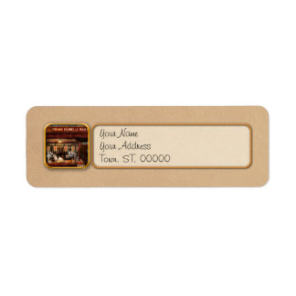 Butcher - Meat priced right 1916 Return Address Label