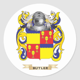 Butler Coat of Arms (Family Crest) Classic Round Sticker