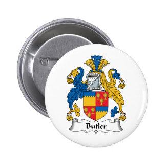 Butler Family Crest 6 Cm Round Badge
