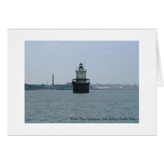 Butler Flats Lighthouse, New Bedford Greeting Card