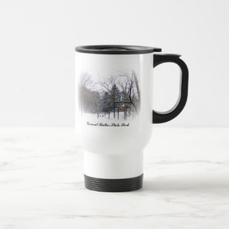 Butler Mansion In The Snow Stainless Steel Travel Mug