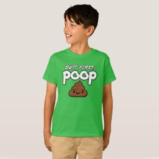 Butt First Poop Kids T-Shirt