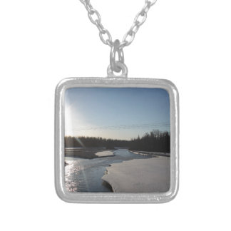 Butte Alaska Silver Plated Necklace