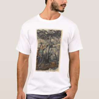 Butte, Montana - Underground Drilling in Copper T-Shirt