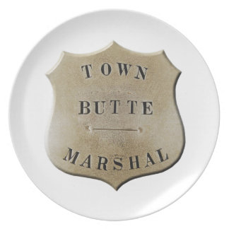 Butte Town Marshal Party Plates
