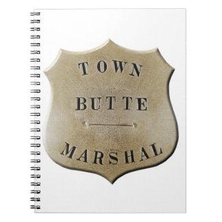 Butte Town Marshal Spiral Notebook