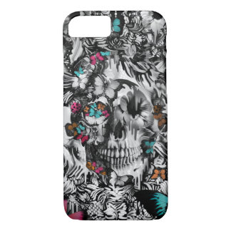 Butter and bones, floral skull pattern iPhone 8/7 case