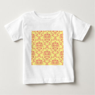 Butter and Cranberry Damask Baby T-Shirt