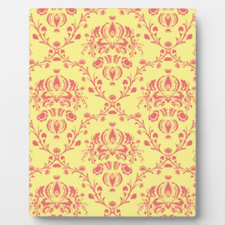Butter and Cranberry Damask Plaque