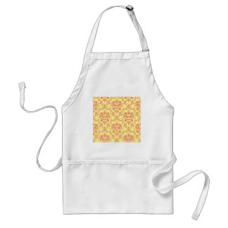 Butter and Cranberry Damask Standard Apron