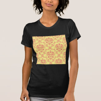 Butter and Cranberry Damask T-Shirt