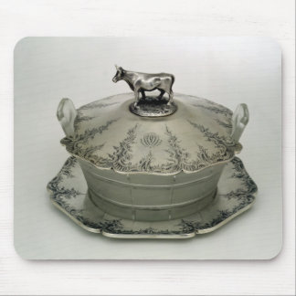 Butter dish with a frosted glass base mouse pad