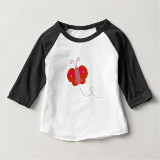 Butter fly Design  Red on white Baby T-Shirt