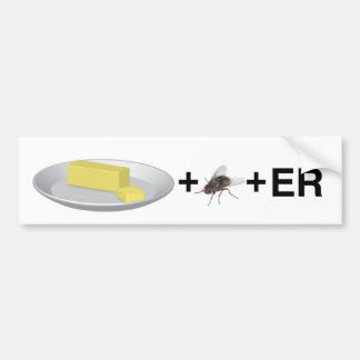BUTTER+FLY+ER BUMPER STICKER